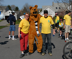 Alumni with Nittany Lion