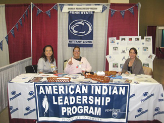 AILP table at 2009 National Indian Education Association conference