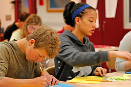 State College High School students working in class