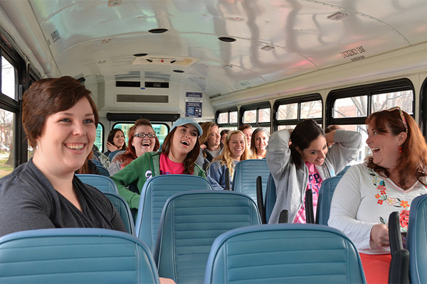 Students in C&I take a field trip.