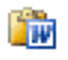Word clipboard icon