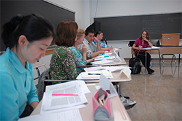 Students sitting class