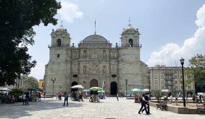 The Cathedral of Our Lady of the Assumption, located in the city of Oaxaca de Juarez, Oaxaca, Mexico.