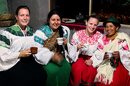 Students in traditional Ecudorian garb